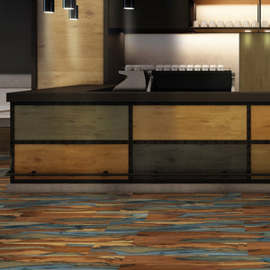 Savanna Blue Polished Wood Effect Italian Porcelain Wall & Floor Tiles