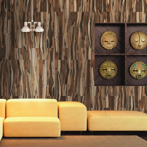 Savanna Coffee Polished Wood Effect Italian Porcelain Wall & Floor Tiles
