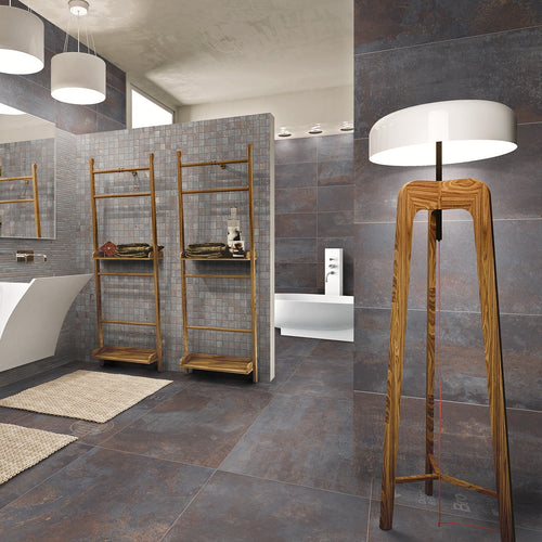 Iron Black Metallic Italian Porcelain Wall & Floor Tiles
