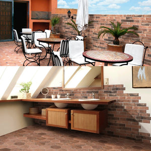 Argile Rame Bricks Effect Italian Porcelain Wall & Floor Tiles