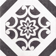 Decor Black & White Designer Retro Italian Porcelain Wall & Floor Tiles