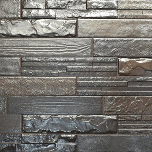 Evolution Metal Brick Italian Porcelain Wall & Floor Tiles 7.5cm x 38.5cm