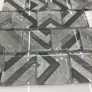 Mosaic Tiles Sheet Elegance Glass Square 30cm X 30cm (mos036)