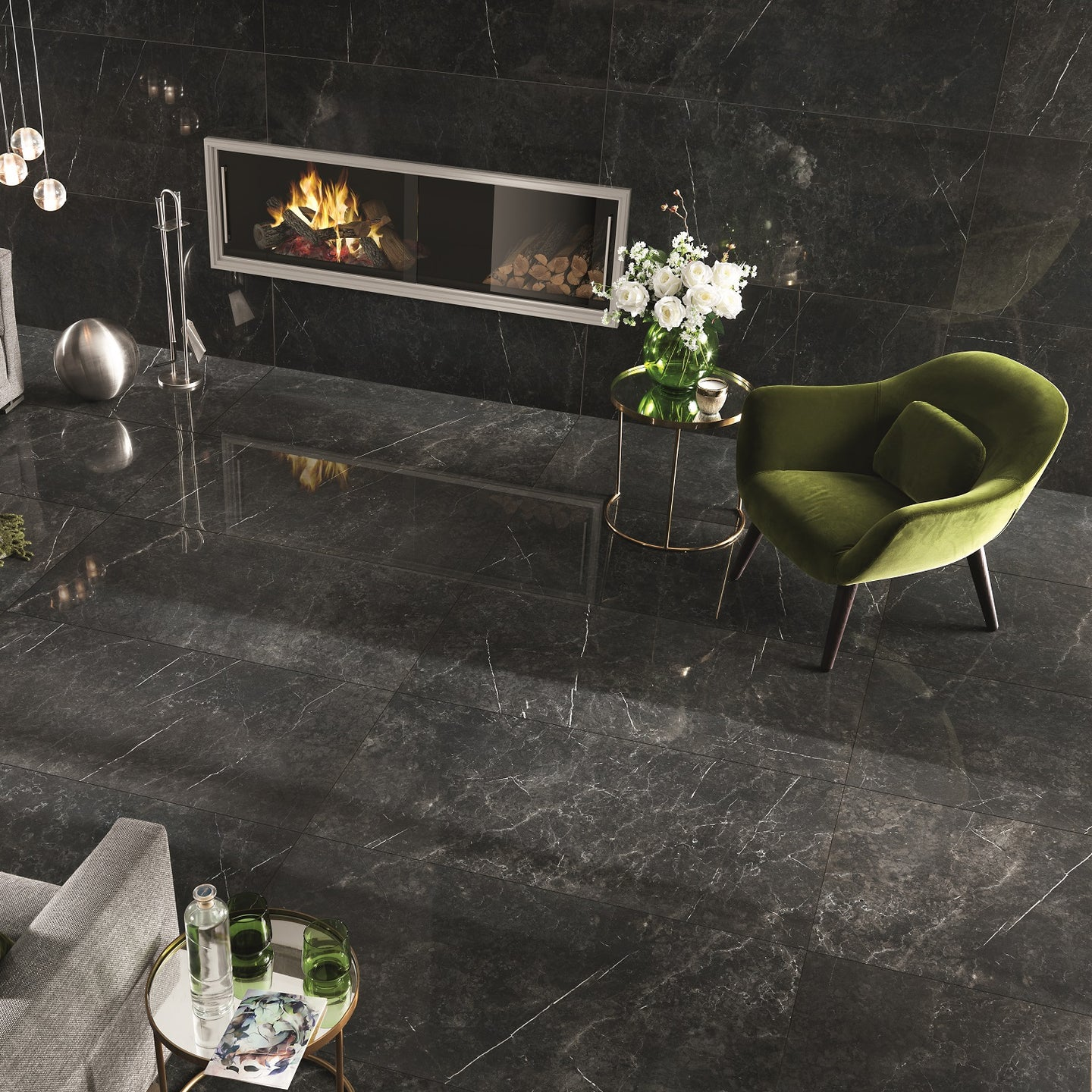 Imp Nero Imperiale Polished Porcelain From £39.00 Per Sqm