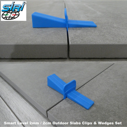 2cm Outdoor Slabs 2mm Tile Spacers Smart Level System Wedges And Clips