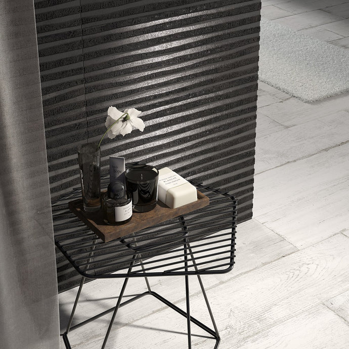 3D Chic Black Designer Italian Wall Tiles And Decor