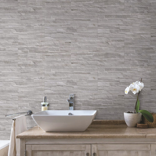 Ocean Wind Marble Effect Porcelain Tiles & Matching Brick Decor