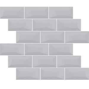 Libra Grey Brick Mosaic Tiles Sheet 30cm X 30cm