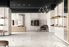 Logic Calacatta White Marble Effect Polished Porcelain From £39.00 Per Sqm