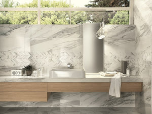 Imp Calacatta Bianco Polished Porcelain From £39.00 Per Sqm