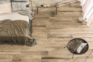 Space Cognac Wood Effect Porcelain Italian Tiles For Wall & Floors