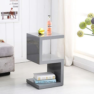 Elegance Square Grey  Side / End Table
