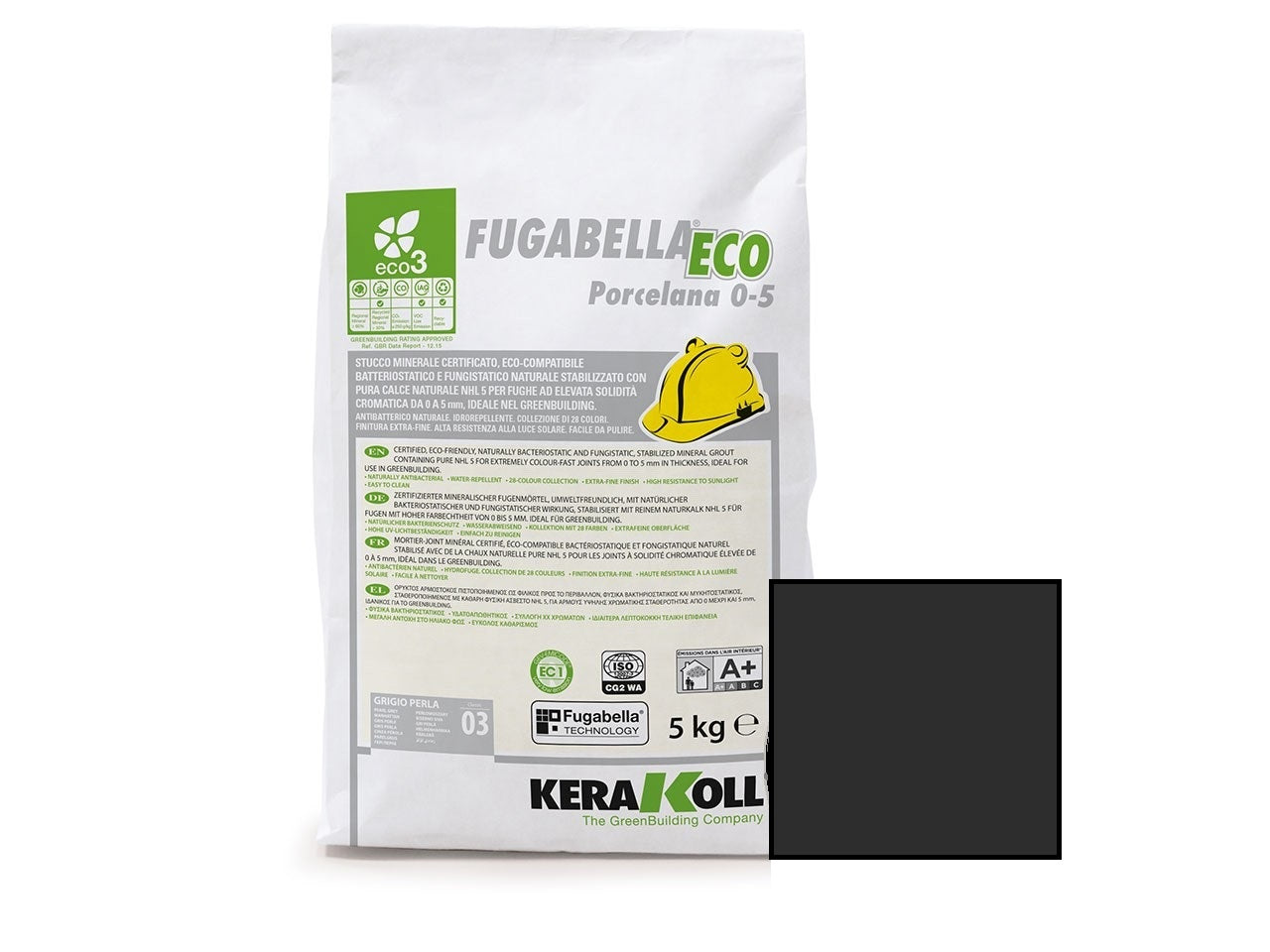 Kerakoll Fugabella Eco Flexible Grout Anthracite 5kg