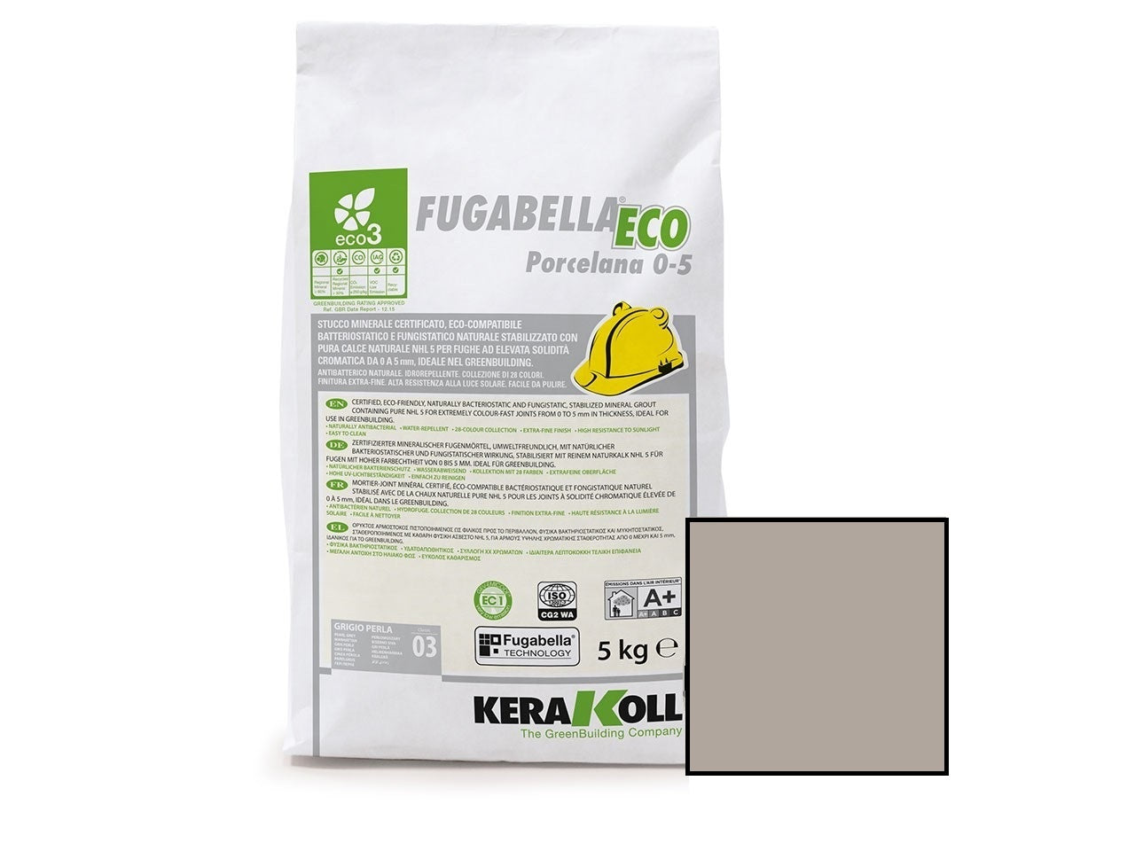 Kerakoll Fugabella Eco Flexible Grout Dove Grey 5kg