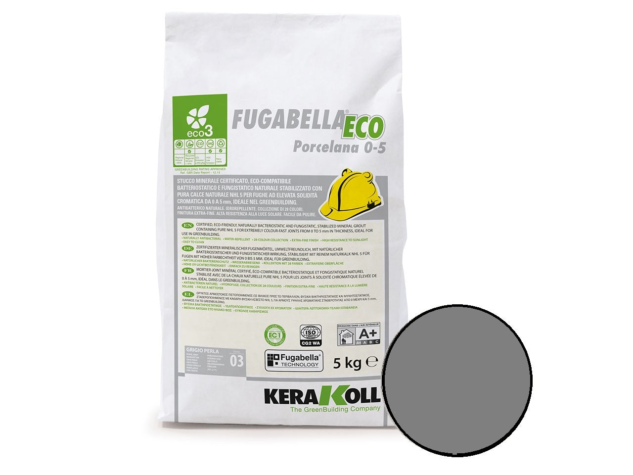 Kerakoll Fugabella Eco Flexible Grout Dark Grey 5kg