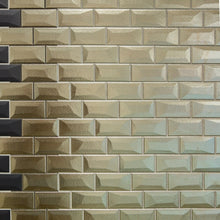 Libra Bronze Brick Mosaic Tiles Sheet 30cm X 30cm