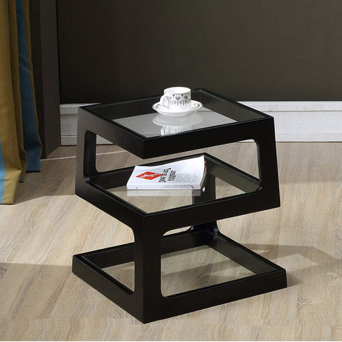 Onyx Triple level Black Side / End Table