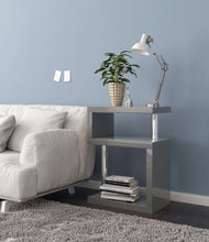 Geno Square Gloss Grey Shelving Unit / Side Table