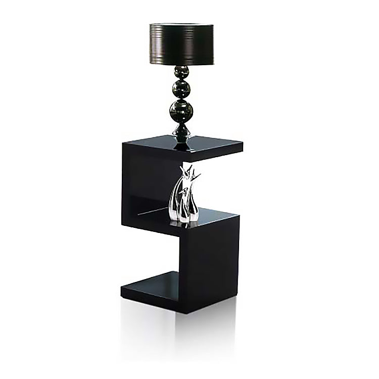Elegance Square Black Side / End / Bedside Table