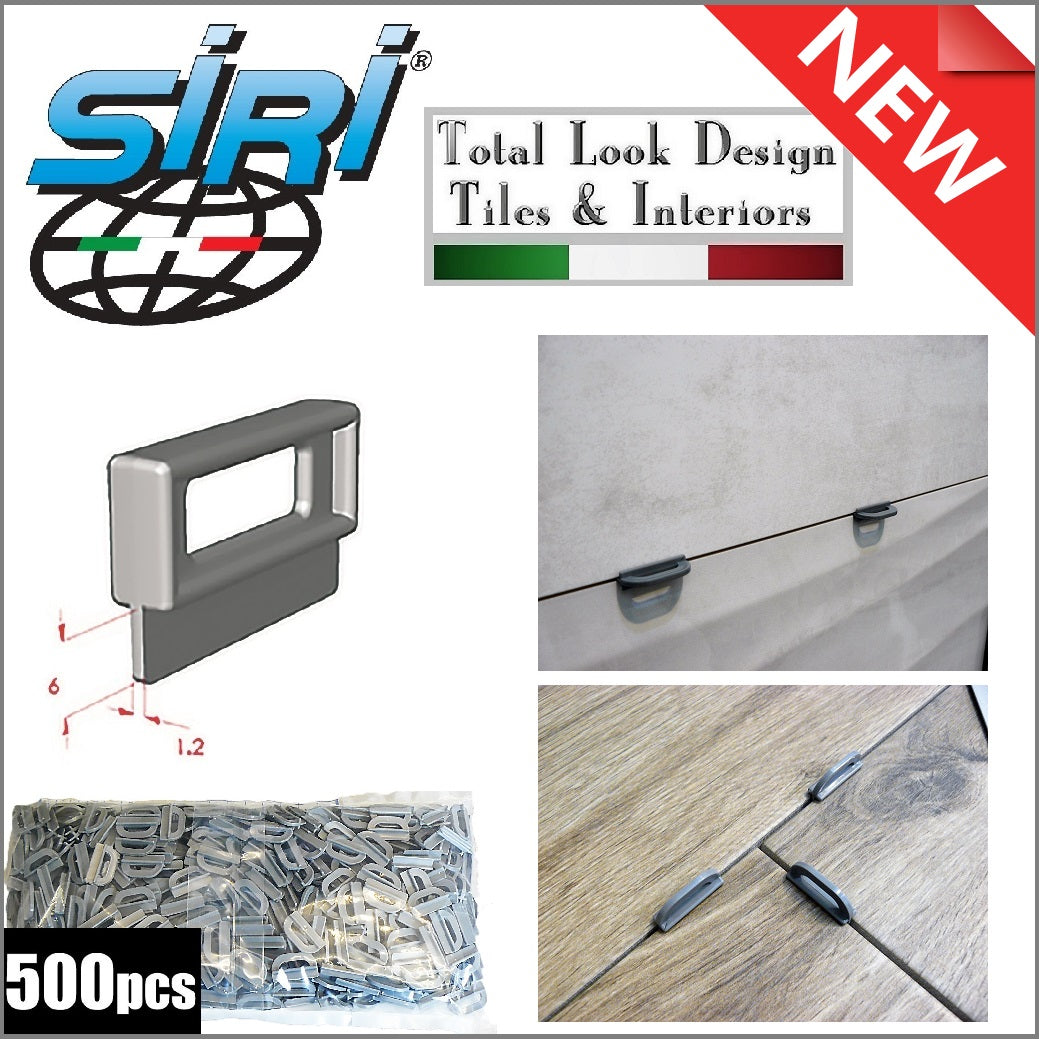 Siri 1.2mm Re-Usable Tile Spacers for Floor and Walls 500 Pack- New Model