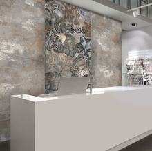 Graffiti Decor Grey Porcelain Wall & Floor Tiles