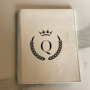 PASSPORT HOLDER - WHITE Q CROWN