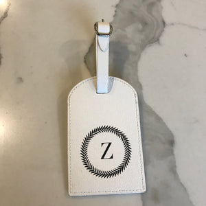 TRAVEL TAG - WHITE Z WREATH