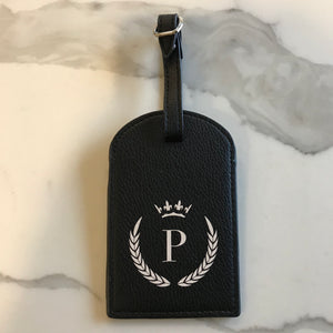 TRAVEL TAG - BLACK P CROWN