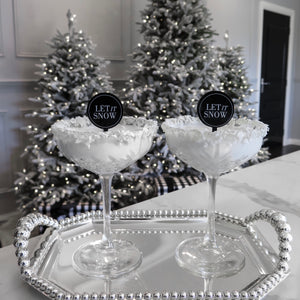 LET IT SNOW MONOCHROME SWIZZLE STICKS