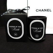 BRIDAL PROPOSAL CANDLES - BLACK/WHITE GLASSWARE