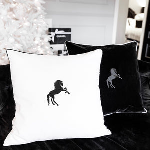 THE VELVET STALLION CUSHION