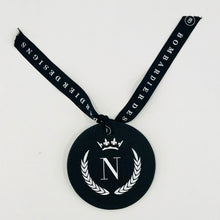 LEATHERETTE INITIAL CHRISTMAS DECORATIONS -  N CROWN - EX PROP