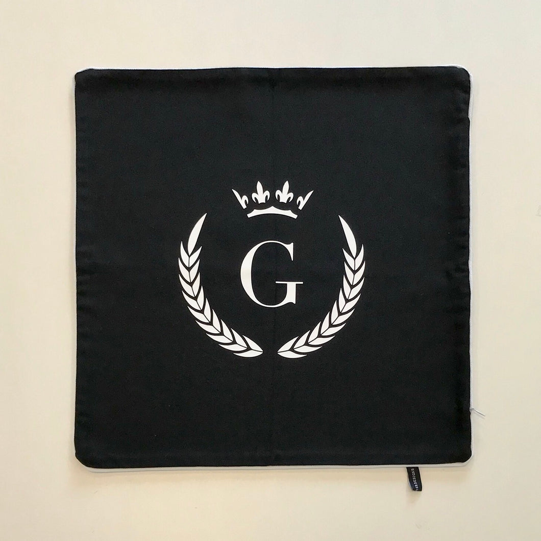 INITIAL CUSHION COVER - BLACK G CROWN - EX PROP