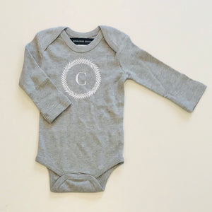 BABY BODYSUIT - GREY C WREATH - EX PROP