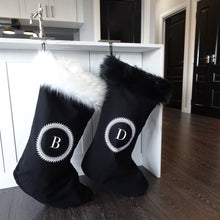 INITIAL CHRISTMAS STOCKING - SUPER LUXE