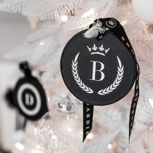 LEATHERETTE INITIAL CHRISTMAS DECORATIONS