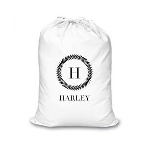 INITIAL W/ NAME CHRISTMAS SACK