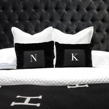 LUXURIOUS FAUX FUR INITIAL CUSHION W/INSERT INCLUDED