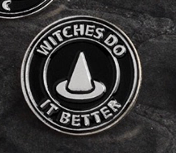 Witches Do It Better Enemal Pin