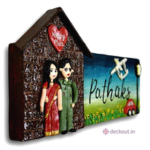 Happy Hut Name Plate-Name Plate-deckout.in
