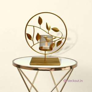 Flora & Fauna Lamp-Candlestand-deckout.in
