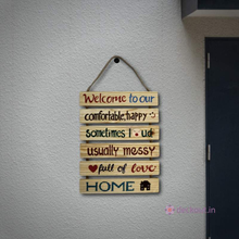 6 Piece Happy Home Wall Plate-Wall Plate-deckout.in