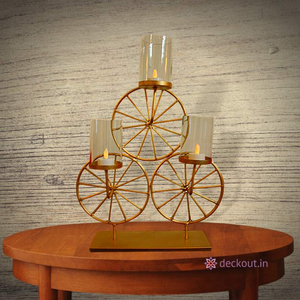 Tricycle Lamp-Candlestand-deckout.in