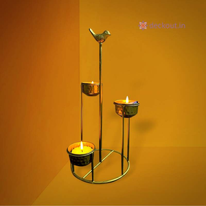 Corner T-Light Lamp-Candlestand-deckout.in
