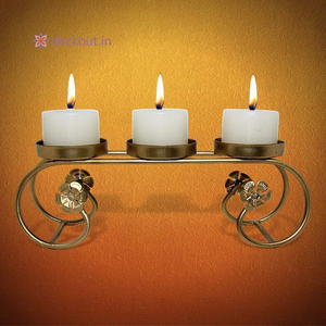 3 Candle Bench-Candlestand-deckout.in