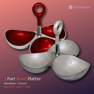 3 Part Bowl Platter - deckout.in