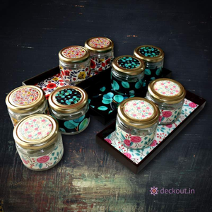 Multipurpose Jars & Wood Tray-deckout.in