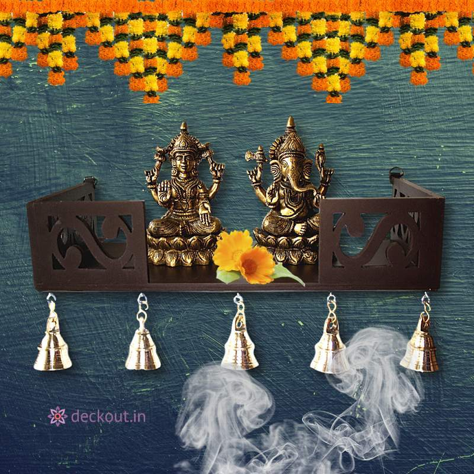 Wood Shelf Temple-Puja-deckout.in