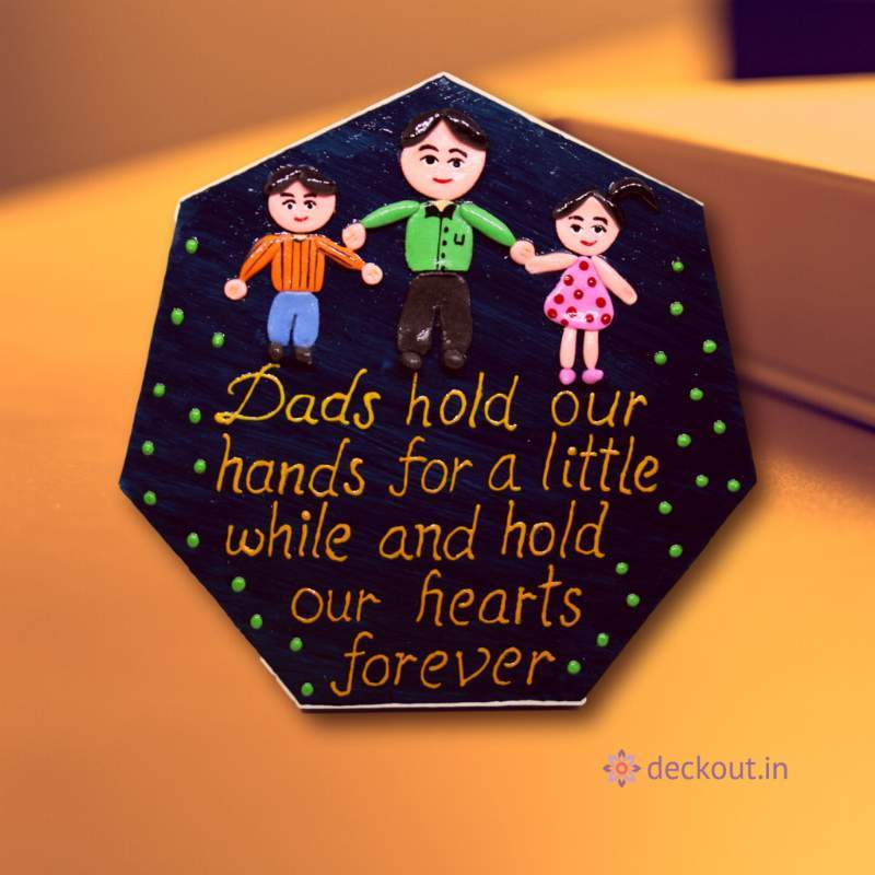 Dad & Kids - Message Frame-Message Frame-deckout.in