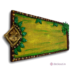 Kalash Jute Name Plate-Name Plate-deckout.in